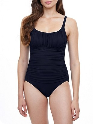 Gottex Swim Ruched One-Piece Swimsuit