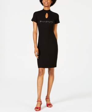 Bebe Ombre Logo Dress