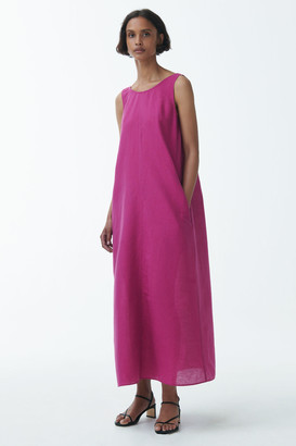 Cos Linen Exposed Back Maxi Dress