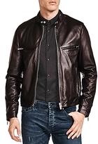 The Kooples Lamb Leather Racing Jacket