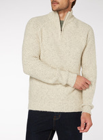 Tu clothing Oatmeal Textured Half Zip Jumper