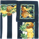 Dolce & Gabbana pineapple print striped scarf - women - Silk - One Size
