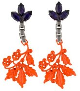 Mawi Crystal & Neon Leaf Earrings