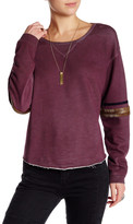 Free People Harper Embellished Long Sleeve Pullover