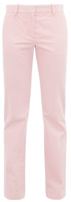 Bella Freud Schoolboy Straight Leg Corduroy Trousers - Womens - Pink
