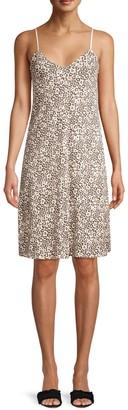 ATM Anthony Thomas Melillo Lunar Leopard Cotton Slip Dress