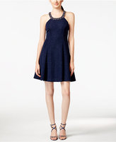 Betsy & Adam Petite Embellished A-line Dress