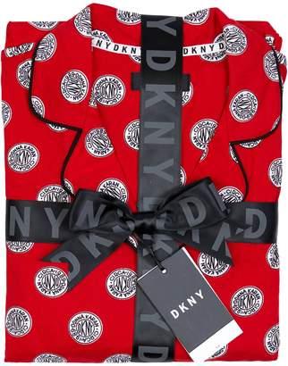 DKNY Sleepwear Printed Cozy Jersey 2-Piece Pyjama Set