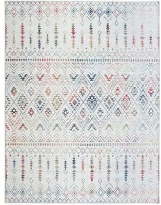 Union Rustic Valarie Southwestern Flatweave Ivory Area Rug Rug Size: Rectangle 4' x 6'