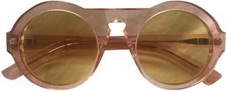 Acne Studios Yellow Plastic Sunglasses