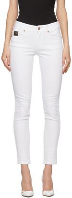 Versace Jeans Couture White Embroidered Skinny Jeans