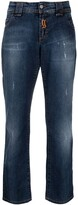 Thumbnail for your product : John Galliano Pre-Owned 2000s Logo-Embroidered Boyfriend Jeans