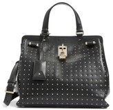 Valentino Garavani Medium Pieper Studded Leather Satchel - Black