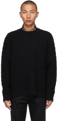Burberry Black Cashmere Carroll Sweater