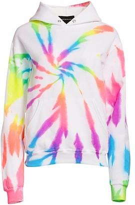 Myrrhe Neon Rainbow Tie-Dye Hoodie