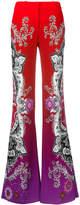 Roberto Cavalli printed straight-leg trousers