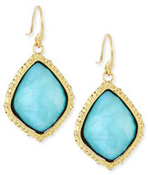 Armenta Old World Blue Turquoise Kite Earrings