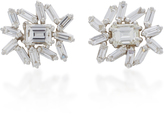 Suzanne Kalan One of a Kind White Gold Diamond Earrings