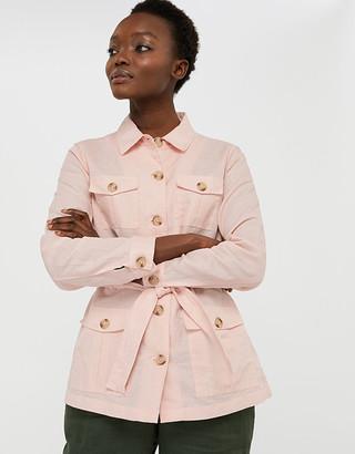 Under Armour Sasha Lightweight Jacket in Linen and Organic Cotton Pink