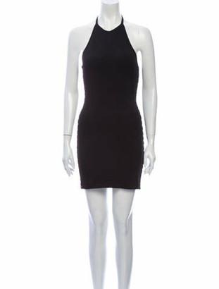 Balmain Halterneck Mini Dress w/ Tags Black