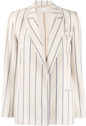 Victoria Victoria Beckham Striped Single-Breasted Blazer