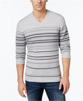 Alfani Men's Striped V-Neck Sweater, Only at Macy's
