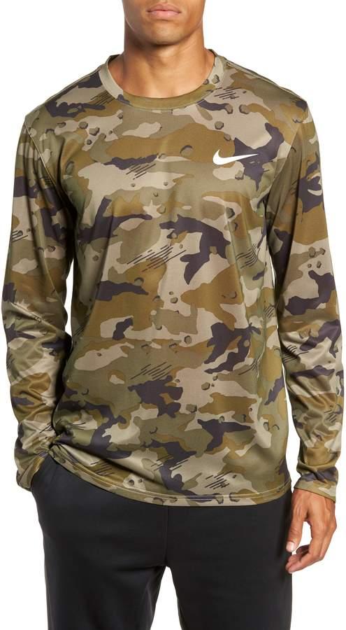 Nike Dry Long Sleeve Camo T-Shirt