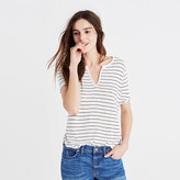 Madewell Anthem Split-Neck Tee in Selby Stripe