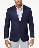 Kenneth Cole Reaction Men's Slim-Fit Stretch Navy/Blue Pin-Dot Sport Coat