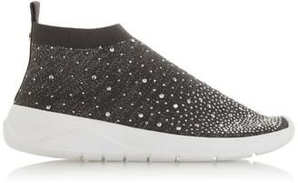 Dune London Emerald Ombre Embellished Sock Trainers