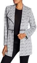 Kasper Jacquard Knit Print Jacket