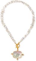 Dina Mackney Pearl, Moonstone & Italian Glass Necklace