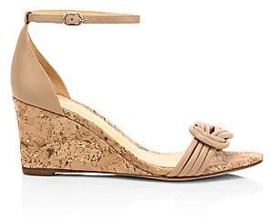 Alexandre Birman Women's Vicky Leather Wedge Heel Sandals