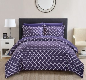 Chic Home Brooklyn 3 Pc Queen Duvet Cover Set Bedding