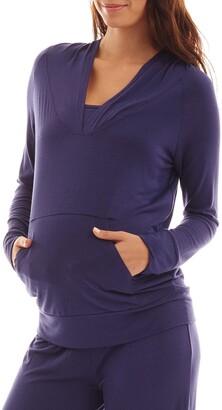 Everly Grey Irene Maternity/Nursing Hoodie & Pants Set