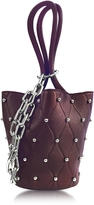 Alexander Wang Roxy Ball Stud Beet Leather Mini Bucket Bag
