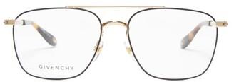 Givenchy Aviator Metal Glasses - Black Gold