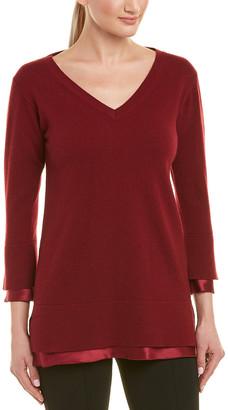 Lafayette 148 New York Charmeuse Cashmere & Silk Sweater