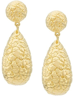 Eshvi Embossed Pendant Earrings
