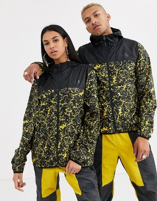 The North Face 94 Rage Novelty Cyclone jacket in leopard yellow rage print