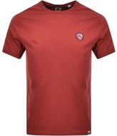 Pretty Green Like Minded Crew Neck T Shirt Red