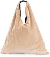 MM6 MAISON MARGIELA textured shoulder bag - women - Leather/Velvet - One Size
