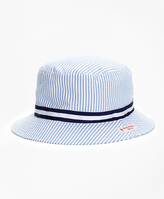 Brooks Brothers Stripe Seersucker Bucket Hat