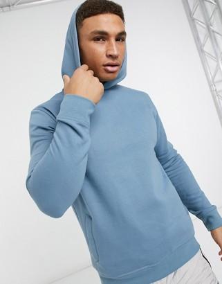 Burton Menswear overhead hoodie in mid blue