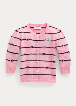 Ralph Lauren Striped Merino Wool Cardigan