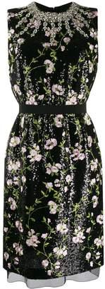 Giambattista Valli floral embroidered mini dress
