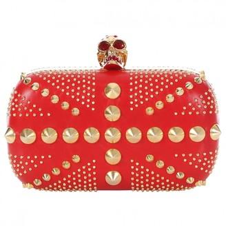 Alexander McQueen Skull Red Leather Clutch bags