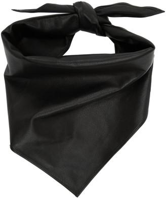 System Black Leather Bandana