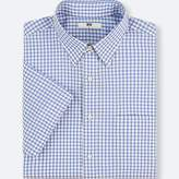 Uniqlo Men's Dry Easy Care Checked Short-sleeve Shirt(online Exclusive)