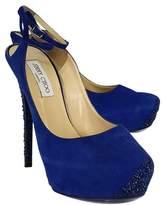 Jimmy Choo Tame Blue Rhinestone Heels